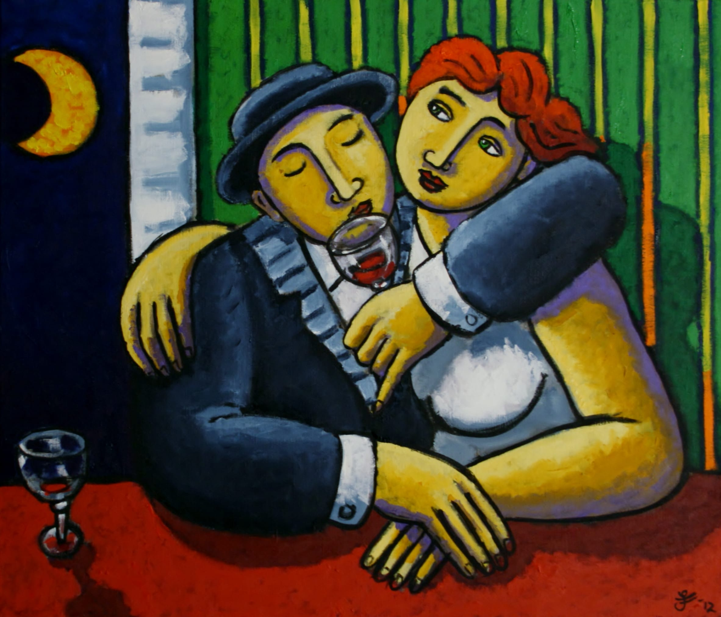 Thirsty Lovers 60x70cm