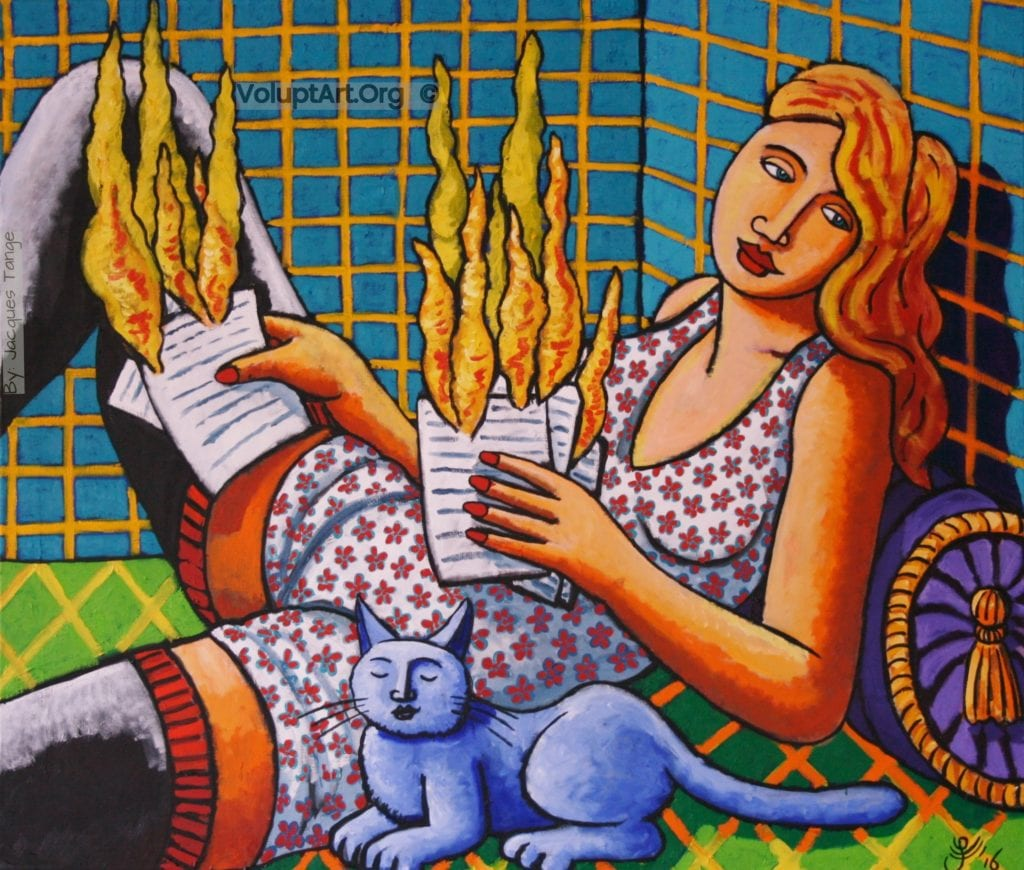 Hot Mail by Jacques Tange oil on canvas 120x140cm