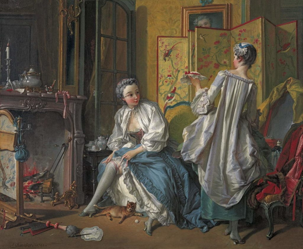 La toilette de F. Boucher. Imagen del Musée du Louvre