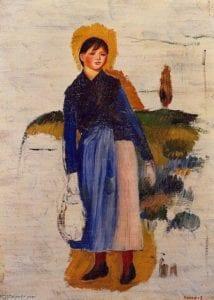 """""""La mujer de las medias rojas"""" de Renoir. Imagen vía Pinterest"""