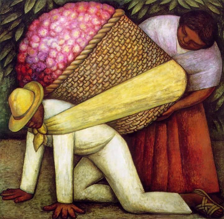 """""""El cargador de Flores"""" por Diego Rivera. Imagen de mary holman vía Flickr"""