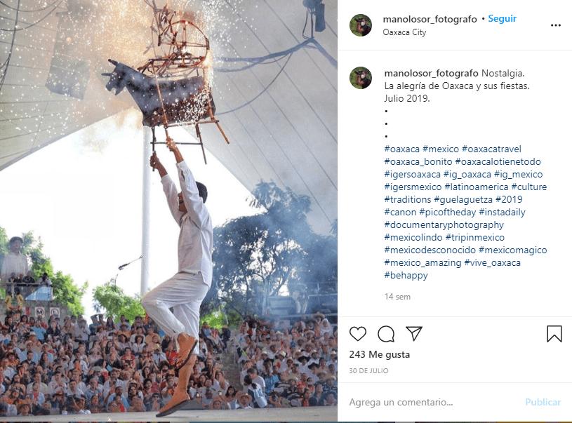 Guelaguetza 2019. Imagen de Monolosor_ fotógrafo vía instagram: