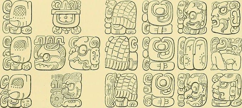 Glifos mayas. Imagen de Internet Archive Book Images en Flickr.