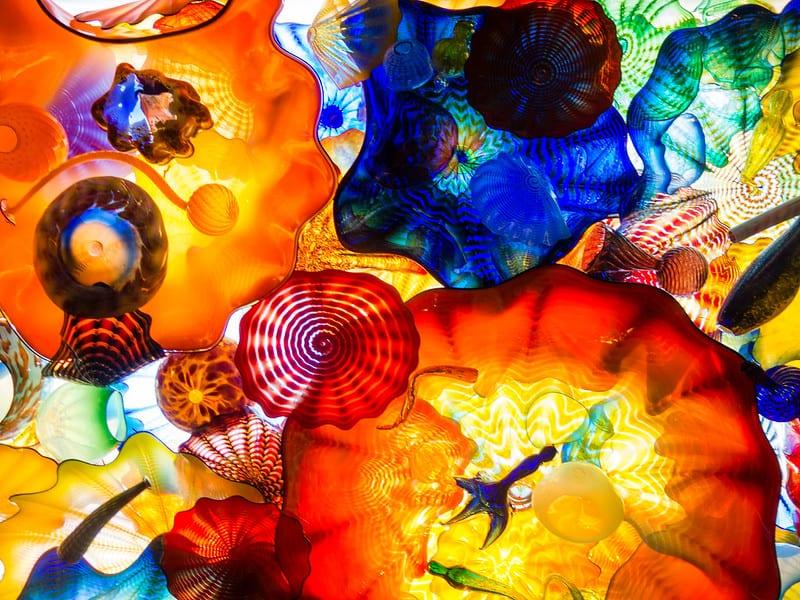 Esculturas de vidrio soplado. Imagen de  Ramkrishna Thevendhriya vía Flickr