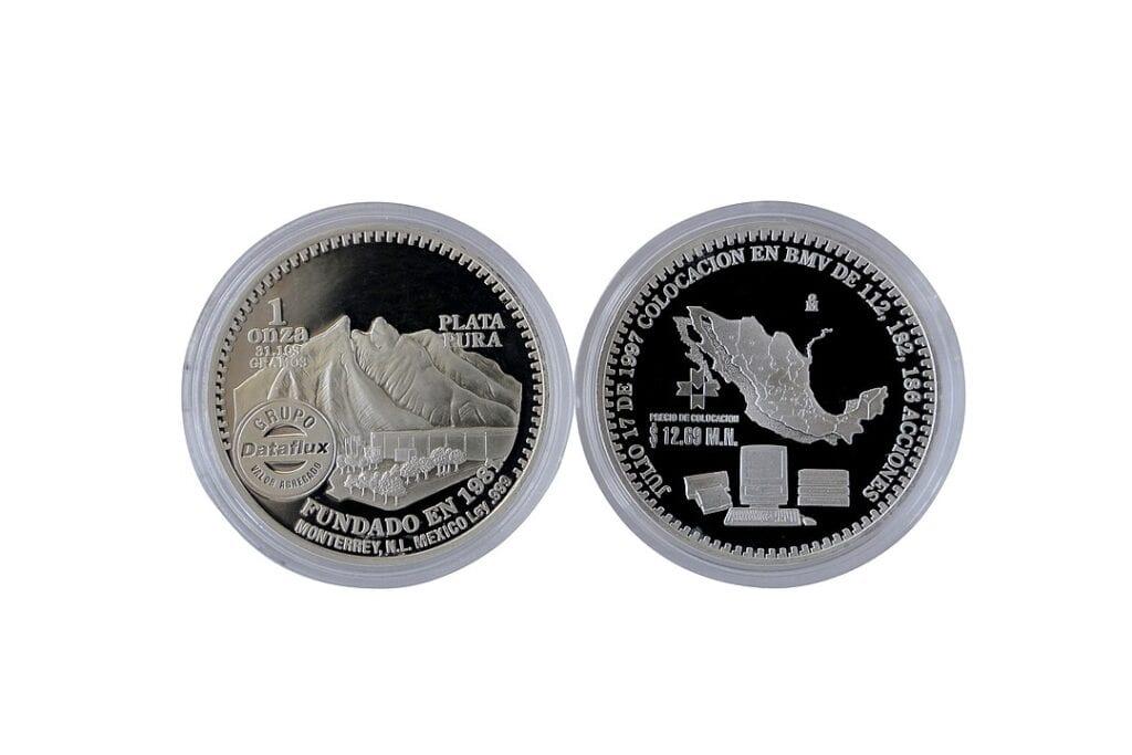 Moneda Mexicana de la Bolsa de Valores. Imagen de Edna Santos vía wikimedia commons