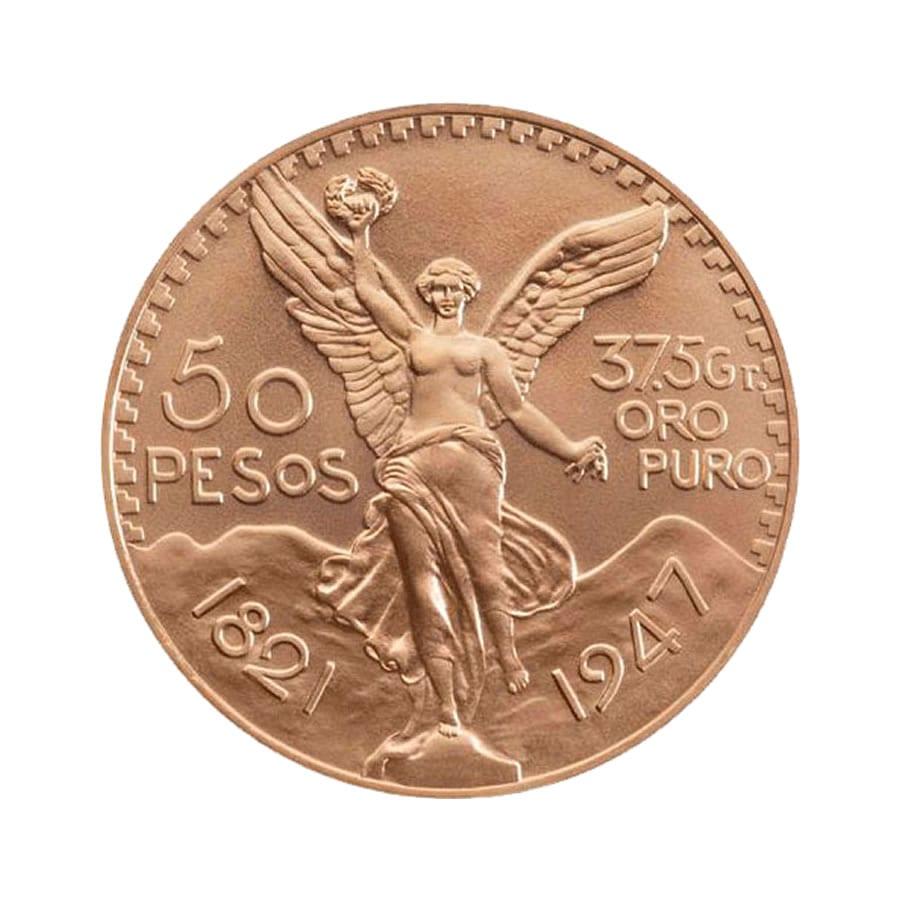 Centenario de México de 50 pesos. Imagen de la Casa de la Moneda de México