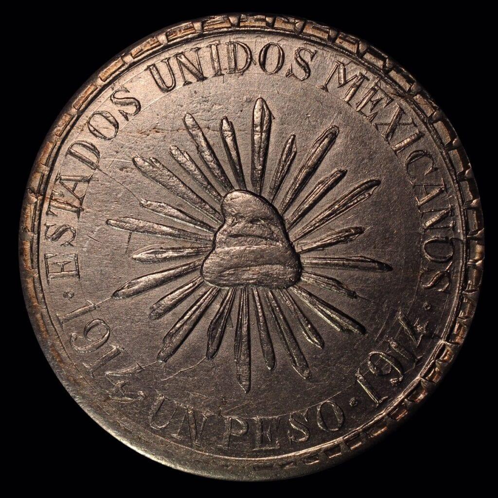 """Moneda """"Muera Huerta"""" imagen de La Sociedad Numismática de México"""