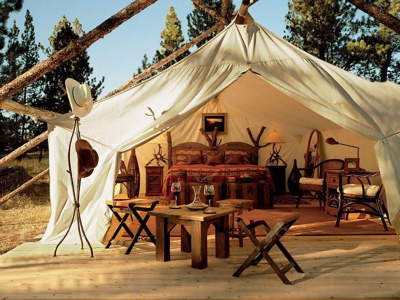 Glamping, turismo sustentable. Imagen de Ranch Seeker via flickr